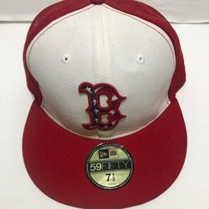 Boston redsox new era 5950 fitted cap. Size 7 1/2